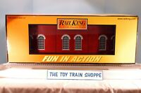 """RAILKING MTH 30-9030 TWO-STALL ENGINE SHED. 24"""" x 8-1/2"""" x 13-1/2"""". NEW IN BOX."""