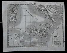 ITALIA DEL SUD O MERIDINAL, CARTA GEOGRAFICA PER  DUVOTENAY=LEMAITRE.Artaud.1835