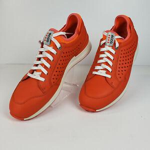 ECCO Womens Golf Speed Hybrid Golf Shoe Orange/White - Size 9.5 US 40 EU EUC