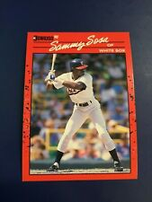 1990 Donruss # 489 SAMMY SOSA ROOKIE RC Chicago White Sox CUBS $$$$ HOT !