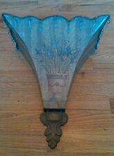 "Decorative Tuscan Metal Wall Pocket Planter Sconce 18"" Ornate"