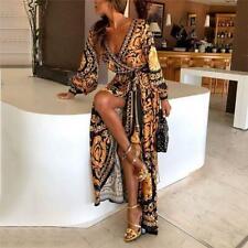 Dress Long Maxi Women Floral Party Evening Summer Beach Boho Skirt Insta Style