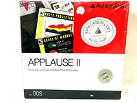 "Ashton-Tate Applause 2 For DOS 3 1/2"" Diskettes VTG Brand New Factory Sealed"