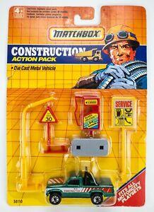 1991 Matchbox Construction Action Pack Dodge Dakota GREEN METALLIC