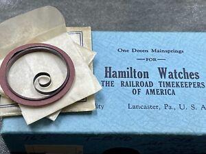 NOS authentic Hamilton mainspring 16s motor barrel pocket watch 16 size No. 534