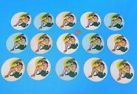 15 VINTAGE 1940s HAWAIIAN ALOHA HULA GIRL PAPER COASTERS TIKI BAR