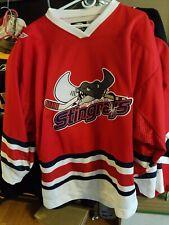 EUC South Carolina Stingrays Red Minor league Hockey Jersey Sz 56 OT Meigray