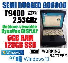 BEATS I5! MIL-STD GD6000  SEMI-RUGGED NOTEBOOK T9400 2.53G 6G 128GB SSD WINDOWS+