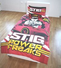 NEW TOP GEAR 'THE STIG' SINGLE DUVET QUILT COVER SET BOYS CARS FANS BEDROOM BED