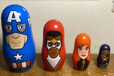 Marvel Hidden Heroes Nesting Dolls Captain America Falcon Black Widow Nick Fury
