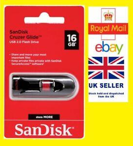 Sandisk Cruzer Glide 16GB USB 2.0 USB Flash Stick, Memory Drive Stick