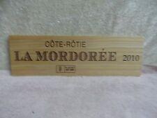 LA MORDOREE COTE ROTIE M CHAPOUTIER WOOD WINE PANEL