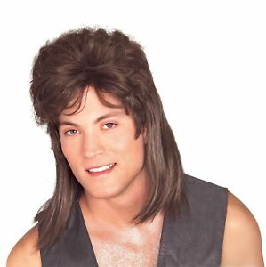 Brown Mullet ADULT Wig Costume Accessory NEW Redneck Hillbilly 80s 70s