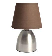 Lampe Tactile 3 intensités de chevet pied en métal Taupe   Déco Bureau Luminaire