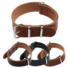 Fashion Concise Genuine Leather 20/22cm Wrist Watch Band Strap Pin Buckle Pop