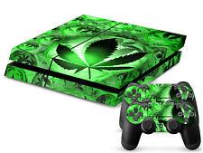 SONY PS4 PlayStation 4 SKIN Design Adesivo Pellicola Protettiva Set - CANNABIS 3