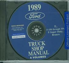 1989 FORD TRUCK SHOP REPAIR MANUAL ON CD-E, F-150 THRU 350, F-SUPER DUTY, BRONCO