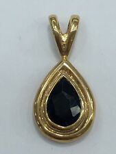 9ct 9k Yellow Gold Pendant With Natural Blue Sapphire | Brand New | 1.5 Grams