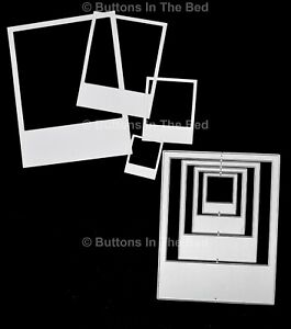 Nest of 4 Polaroid Frames Metal Cutting Dies, Retro Scrapbooking, Card Making H0