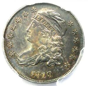 1829 Capped Bust Dime 10C - PCGS AU Details - Rare Early Date - Certified Coin!