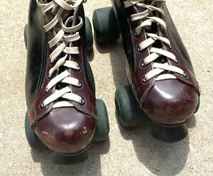 Vintage Red Wing Roller Skates Riedell Size 12-1/2 Two Tone Jogger Sure Grip