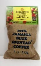 100 Percent Jamaica Blue Mountain Coffee Ridgelyne Roasted & Ground Organic 8 oz