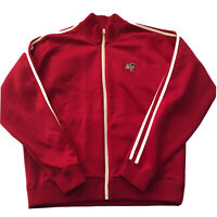 Abercrombie & Fitch Mens Muscle Track Jacket Large Full Zip Red Logo Y2K A&F L