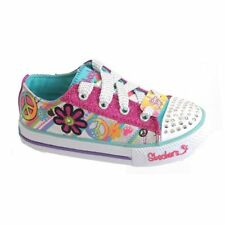 Skechers Plimsolls Shoes with Laces for Girls