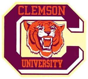 Clemson University College Tigers   Vintage 1950's Style  Travel Decal sticker