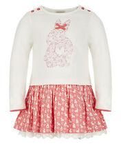 Monsoon Girls 18-24 Months Floral Bunny Rabbit Tunic Dress 1.5-2 Years £