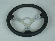 1968-1975 1977-1982 C3 Corvette Steering Wheel Black Leather Rim-3 Chrome Spokes