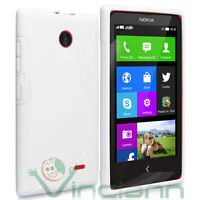 Pellicola+Custodia cover Wave BIANCA per Nokia X X+ flessibile aderente tpu