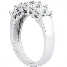 1.75 carat 5 Stone Emerald cut Diamond Ring Wedding Band 0.35 ct Each 18k Gold F