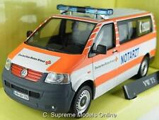 VW T5 AMBULANCE NOTARZT GERMAN MODEL VAN 1/43RD SCALE PACKAGED ISSUE K8967Q~#~