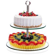 2 TIER GLASS CAKE CUPCAKE STAND