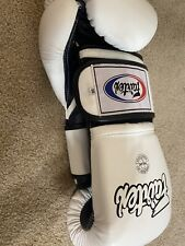 Fairtex Muay Thai Kick Boxing Gloves White Color Bgv9 Tight Fit Sparring 14oz