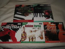 5 Instrumental Christmas Music CD's Piano Guitar Latin Greenbrier International