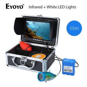 "Eyoyo 7"" 15M Infrared +White LED Lights Fishing Video Camera Fish Finder 1000TVL"