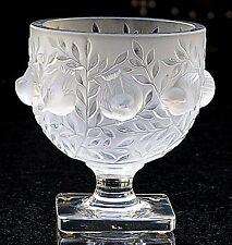 Exquisite Frosted Lalique Crystal: 'Elizabeth' Vase