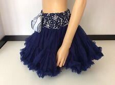 Tutu Mini Skirt Navy Blue Size Uk 14-15 Years Vgc