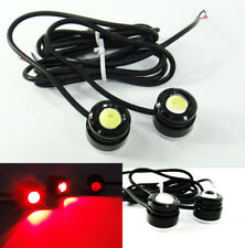 2x Universal Eagle Eye LED RED DRL Daytime Running Fog Parking Light Motorcycle