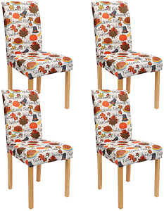 XAMSHOR Dining Room Chair Slipcovers, Removable Washable Kitchen Parsons Chair C