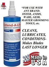 EXTEND-A-LIFE CLIPPER BLADE RINSE CLEANER SPRAY Lube*For ANY Oster,Andis,Wahl