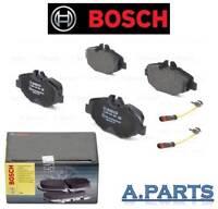 Bosch Pastilla de Freno Eje Delantero Conjunto Completo con 2X Contacto Avisador