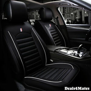 For Vw Golf Polo Black Comfortable Leatherette Luxury Soft Front Car Seat Covers
