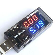 USB Voltage Ammeter Detector Double Row Shows 3v - 9v USB Current Voltage Tester