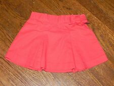 Janie and Jack Baby Infant Girl Skirt 2012 Resort Orange Red Pleated with Bow