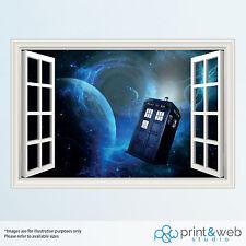 Dr Who 3D Window View Decal Wall Sticker Home Decor Art Mural Kids