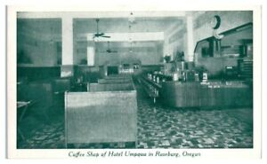 Coffee Shop of Hotel Umpqua in Roseburg, OR Postcard