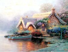 Lochaven Cottage - Signed & Numbered  12x9 paper print by Thomas Kinkade